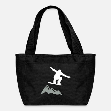 Lumilautailu Snowboarder jump Mountain - Lunch Bag