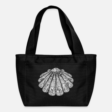 Ornament decorated scallop with flowers and ornaments - Lunch Box