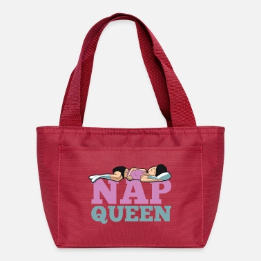 Mommy Needs a Nap. Napping Queen Pink and Teal - Lunch Bag