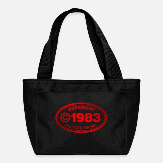 Birthday Bags & Backpacks - Copyright 1983 - Lunch Bag black