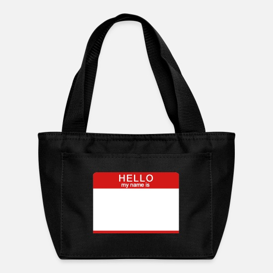 Hello My Name Is Bags & Backpacks - Hello My Name Is - Lunch Bag black
