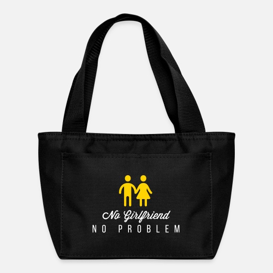 Love Bags & Backpacks - No Girlfriend. No Problem. - Lunch Bag black
