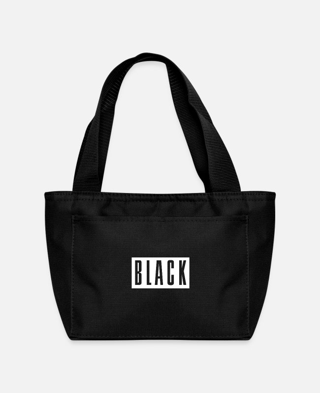 Black Power Lunch Boxes - Black to Basics - Lunch Bag black