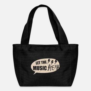 Guitarist Let The Music - Music Design - Lunch Bag