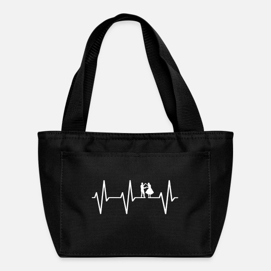 Heart Bags & Backpacks - My heart beats for dancing! gift - Lunch Bag black