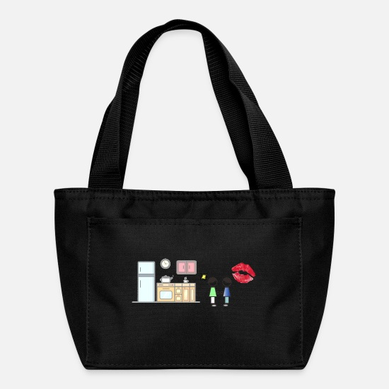 Love Bags & Backpacks - kiss - Lunch Box black
