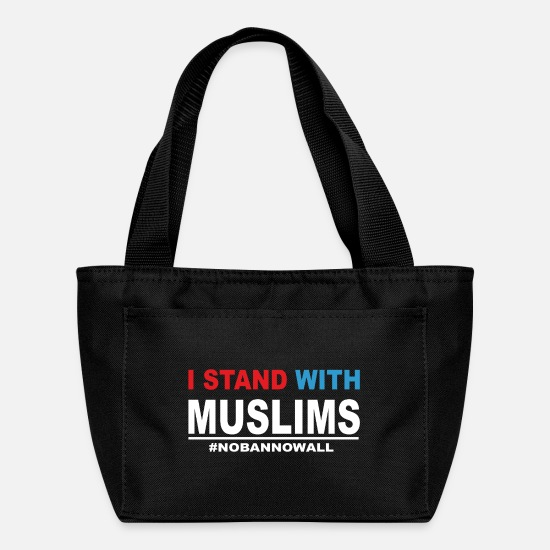 With Bags & Backpacks - I Stand With Muslims - Lunch Box black
