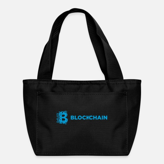Blockchain Bags & Backpacks - Blockchain Block Chain Technology Logo Symbol Coin - Lunch Box black