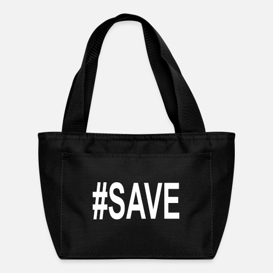 Save The World Bags & Backpacks - Save - Lunch Box black
