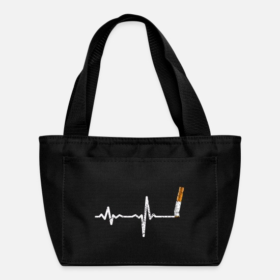 Cigar Bags & Backpacks - Heartbeat cigarette down - gift - Lunch Bag black