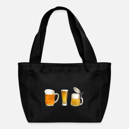 Beer Keg Bags & Backpacks - 3 beers - Lunch Bag black