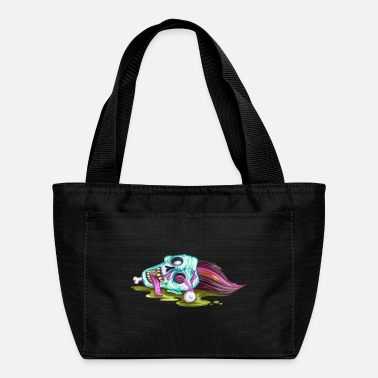 Skull And Bones Halloween Zombie Dead Face - Lunch Bag