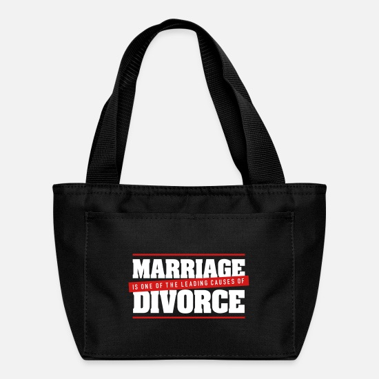 Love Bags & Backpacks - Marriage Is A Main Reason For Divorce! - Lunch Bag black