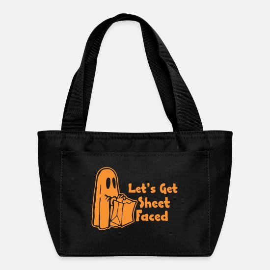 Sheet Metal Worker Bags & Backpacks - Halloween Lets Get Sheet Faced - Lunch Bag black