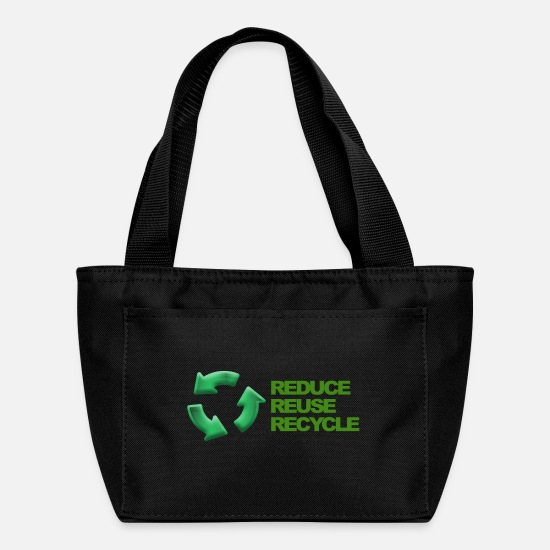 Reduced Bags & Backpacks - Reduce reuse recycle - Lunch Bag black
