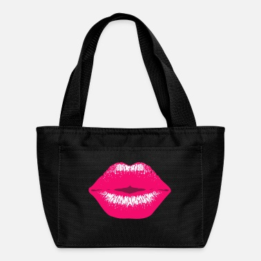 Sexy Pink Kissing Lips Kiss - Lunch Bag