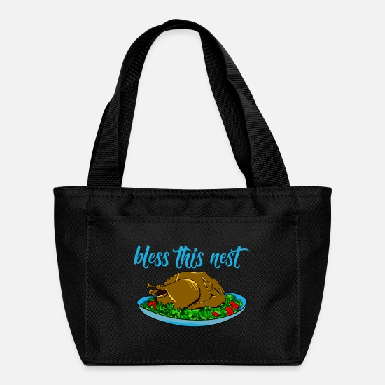 Thanksgiving Bags & Backpacks - Funny Thanksgiving meal turkey - Lunch Box black