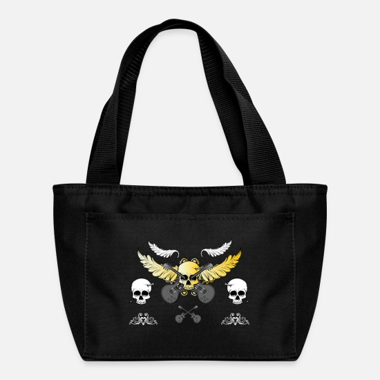 Death Bags & Backpacks - Rock Skull 1 - Lunch Box black
