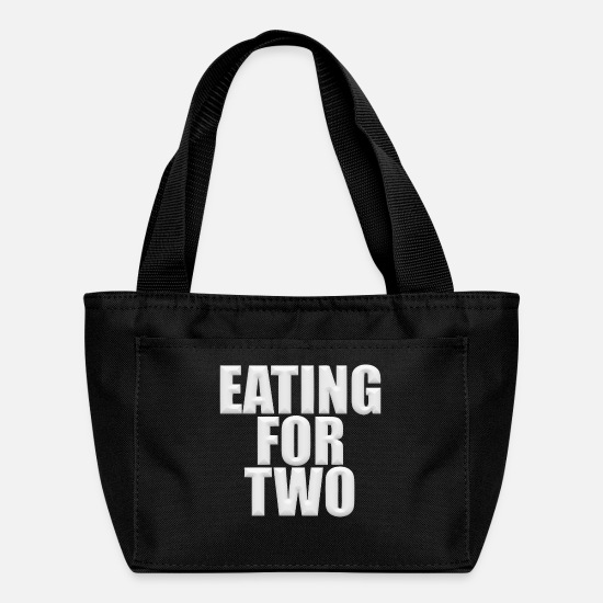Two Color Bags & Backpacks - Eating for two - Lunch Box black