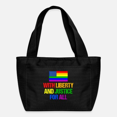 Gay Pride Equal Rights Rainbow American Flag - Lunch Bag