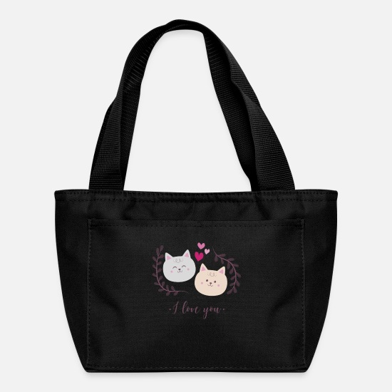 Love Bags & Backpacks - Kitty Cats I Love You - Lunch Box black