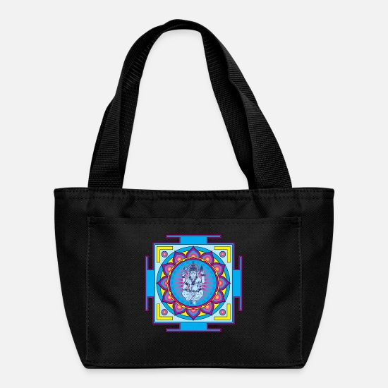 Ganesha Bags & Backpacks - Ganesha Mandala - Lunch Bag black