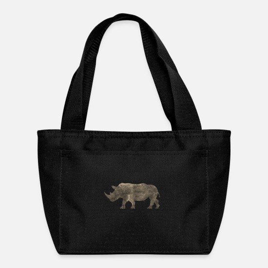 Monkey Bags & Backpacks - Silhouette Jungle Series Rhino - Lunch Box black