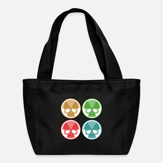 Radiation Bags & Backpacks - four nuclear skulls - Lunch Bag black