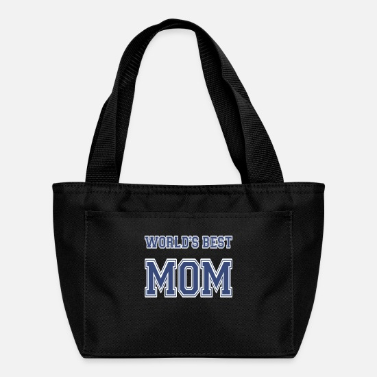 Birthday Bags & Backpacks - World's Best Mom Athletic - Lunch Bag black