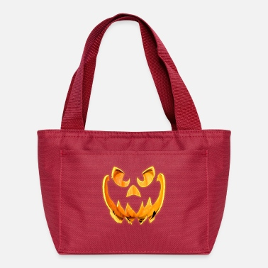 3D Glowing Scary Jack-o-Lantern Face - Lunch Bag