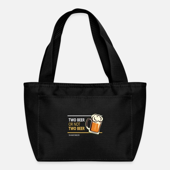 Two Color Bags & Backpacks - Two beer or not tWo beer - Lunch Box black
