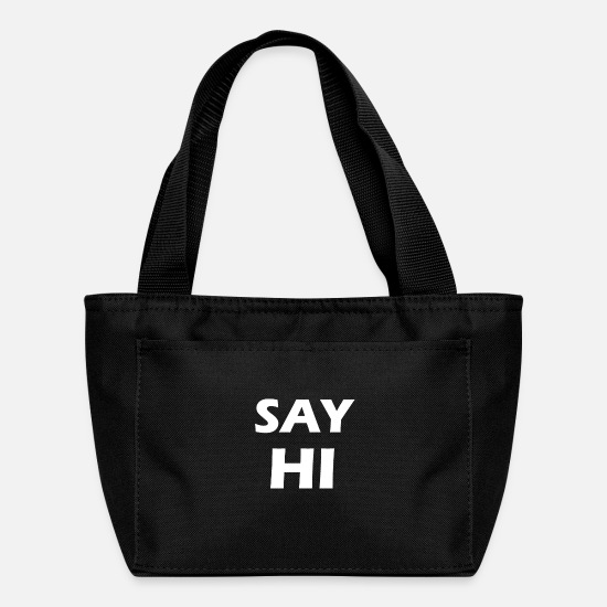 Hi Bags & Backpacks - say hi - Lunch Box black