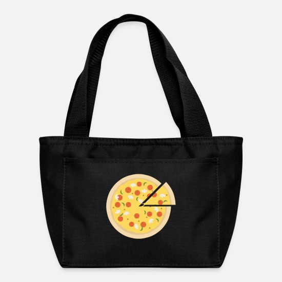 Pizza Bags & Backpacks - Pizza Hut Present Gift Italy Italian Meal Funghi - Lunch Box black