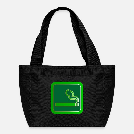 No Bags & Backpacks - rauchen no smoking cigarette zigarette pipe pfeiff - Lunch Bag black