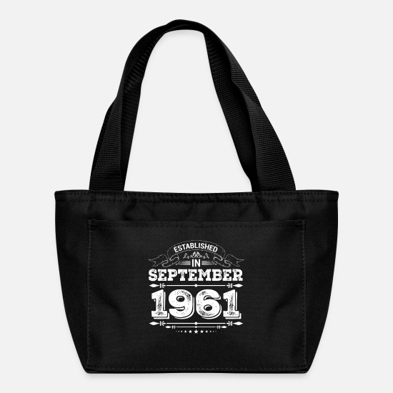 1961 Bags & Backpacks - Established in September 1961 - Lunch Box black