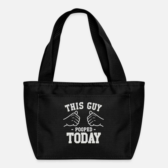 Guys Night Out Bags & Backpacks - This Guy Pooped Today - Lunch Bag black