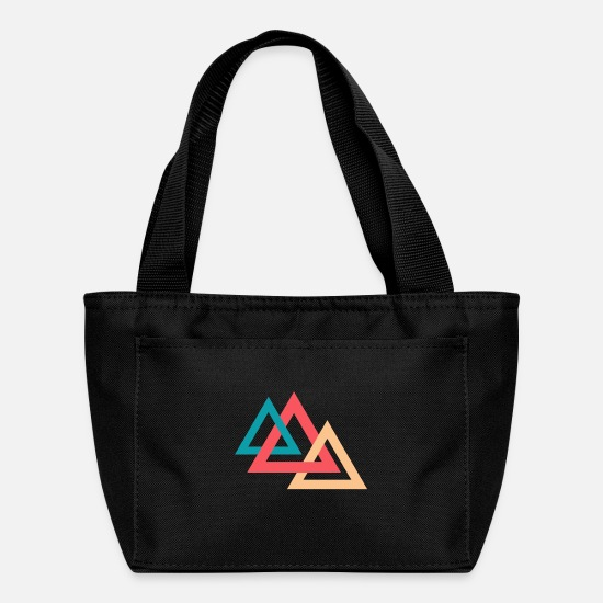 Hipster Bags & Backpacks - Three triangles - Lunch Box black