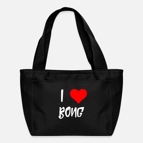 Love Bags & Backpacks - I love Bong Heart Smoker Gifts - Lunch Box black