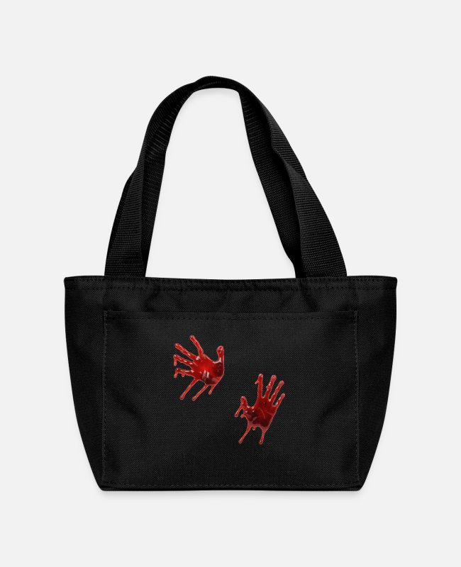 Horror Lunch Boxes - Blood hand - Lunch Bag black