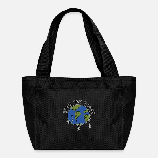 Nature Bags & Backpacks - Save The Planet Concept - Lunch Box black