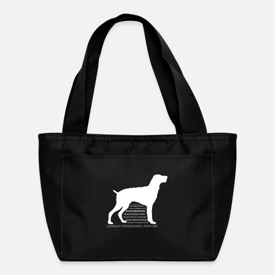 Pointer Bags & Backpacks - German Wirehaired Pointer - Lunch Bag black