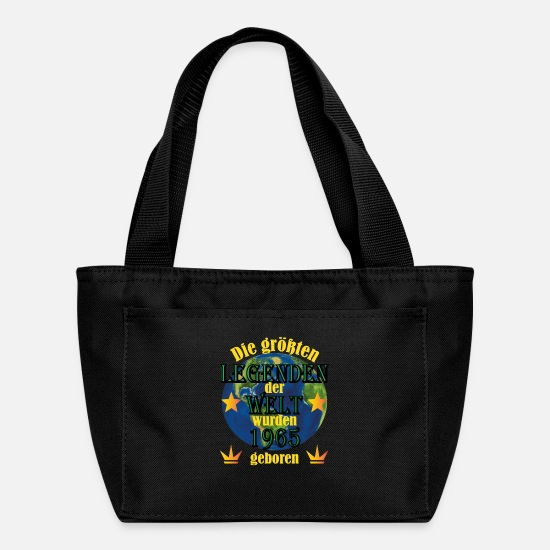 Birthday Bags & Backpacks - T-Shirt Year of birth 1965 - Legend Unique - Lunch Box black