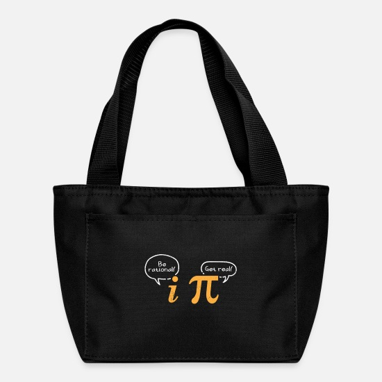 Pi Day Bags & Backpacks - Math Symbols Be Rational Get Real Pi Day Nerd Gift - Lunch Bag black