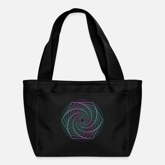 Psychedelic Bags & Backpacks - Sacred Geometry Sirituel Mathematics - Lunch Bag black