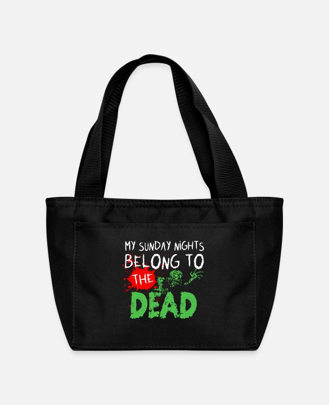 Horror Lunch Boxes - MY SUNDAY NIGHTS BELONG TO THE DEAD - Lunch Bag black