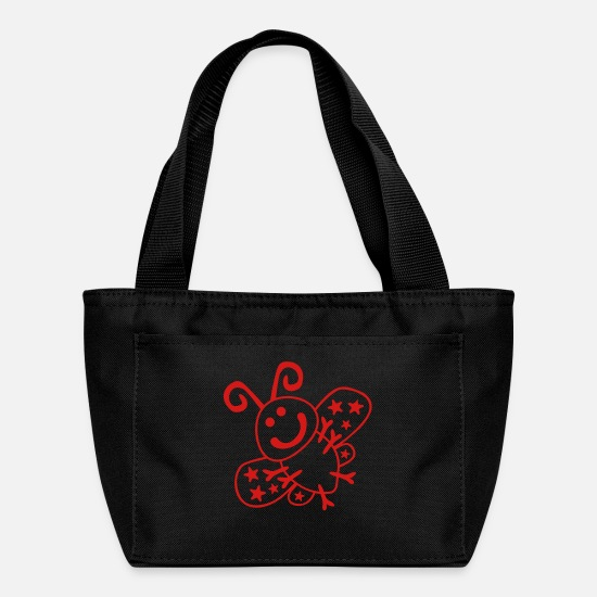 Kind Bags & Backpacks - Cute Butterfly - Lunch Bag black