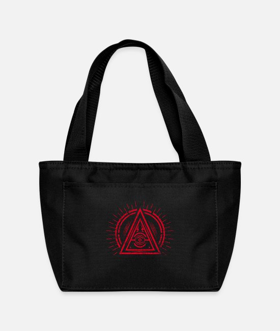 Hipster Bags & Backpacks - Illuminati - All Seeing Eye - Satan / Black Symbol - Lunch Bag black