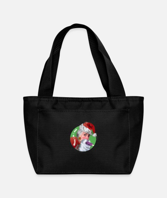 Happy Holidays Bags & Backpacks - Santa Sucks: Move it in & out - Lunch Bag black