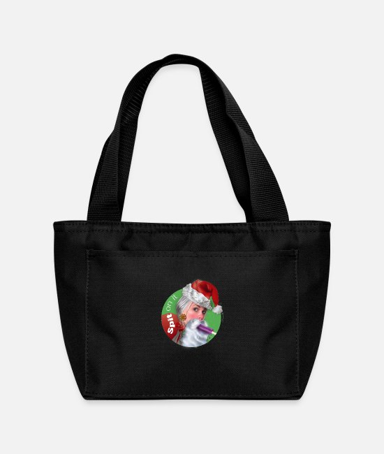 Happy Holidays Bags & Backpacks - Santa Sucks: Spit on it - Lunch Bag black