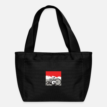 Alps Cyclocross Athlete Running Carrying Bike Alps Retr - Lunch Bag